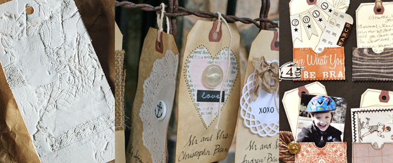 Paper Crafting with Shipping Tags