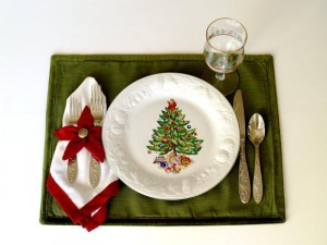 Poinsettia Place Mats