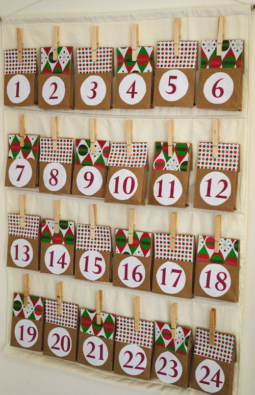 Charming Paper Bag Advent Calendar