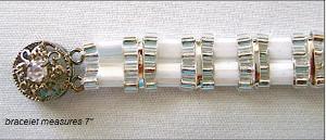 White Luster Tila Bracelet