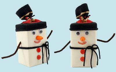 Tea Box Snowman