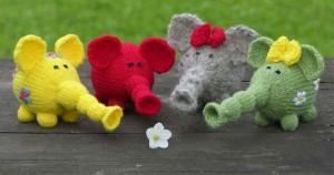 Knit Floral Elephant