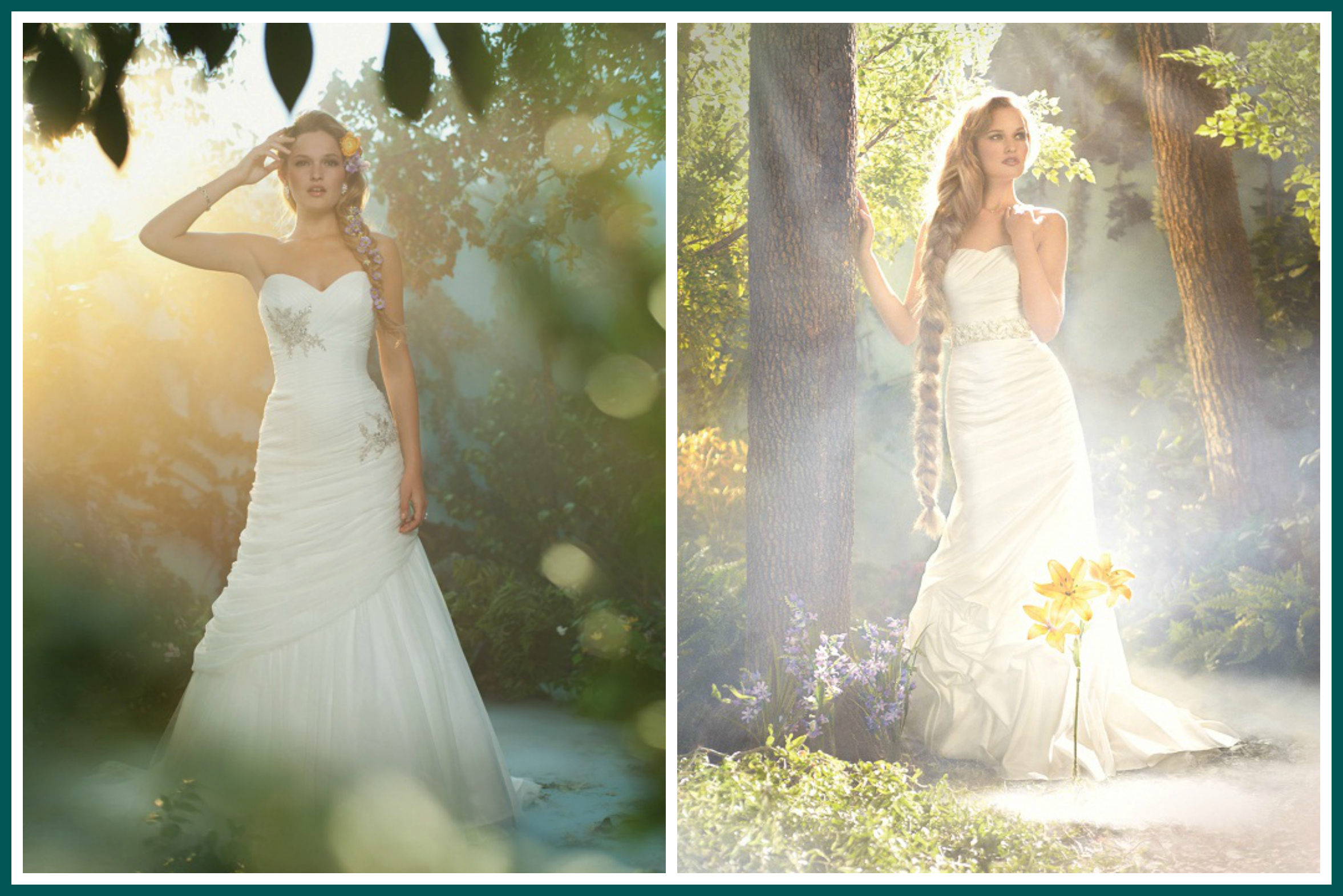 Rapunzel Disney Princess Wedding Dress