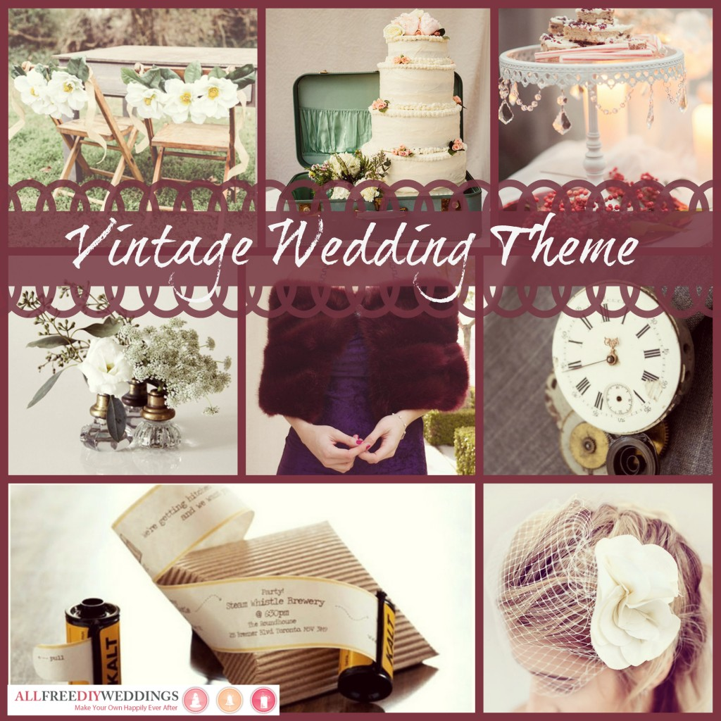 Modern vintage wedding theme table decorations : Vintage wedding ideas grandma will love