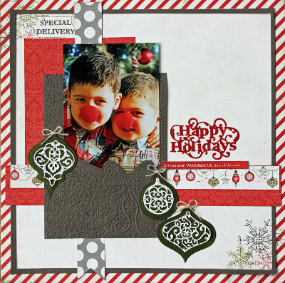 Happy Holidays Scrapbook Layout