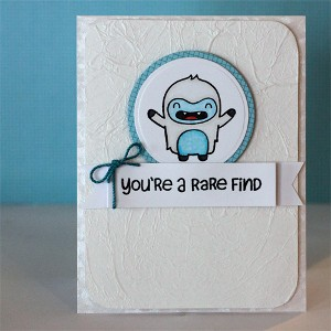 You're a Rare Find Adorable Winter Card