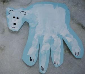 Polar Bear Handprint