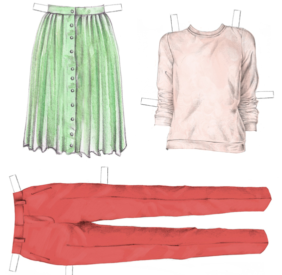http://www.allfreepapercrafts.com/Paper-Dolls/Pink-and-Green-Printable-Paper-Doll-Clothes