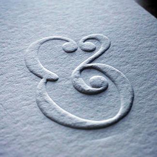 typography embossing