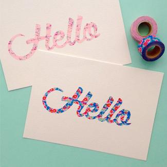 typography washi