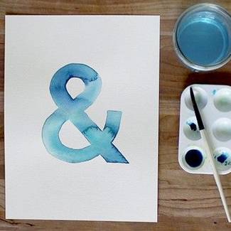 typography watercolor