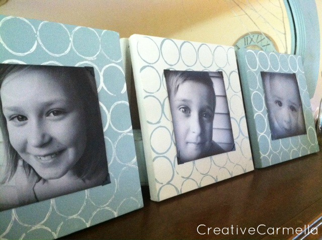 Simple Stamped DIY Picture Frames