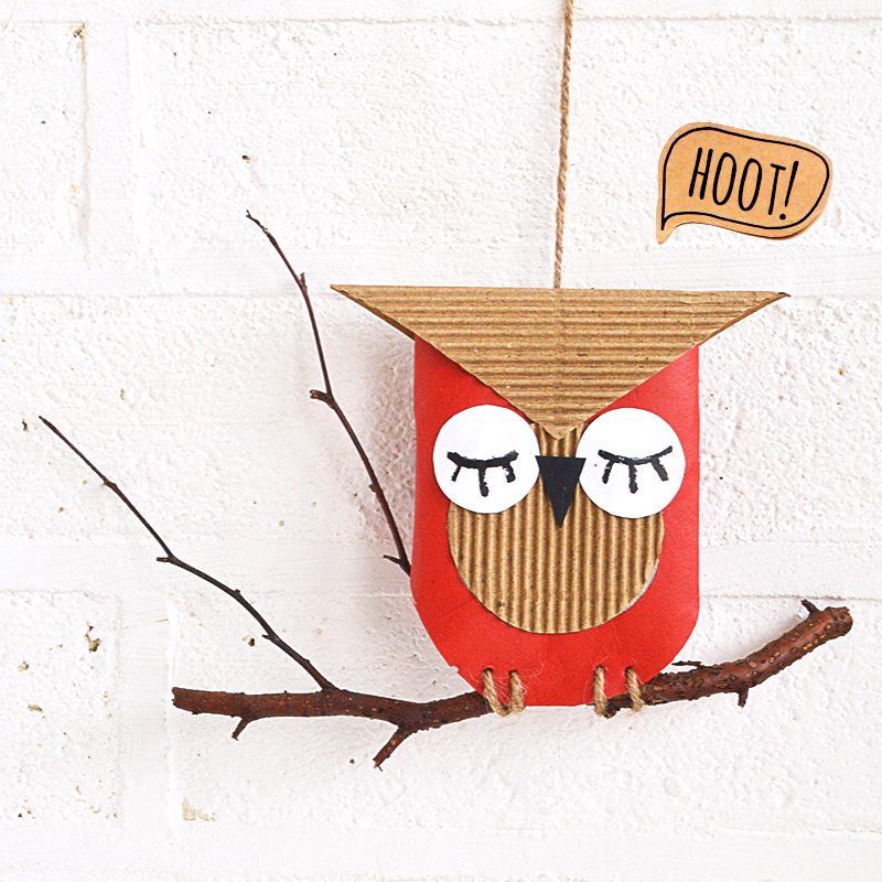 Thrifty Cardboard Owl Craft