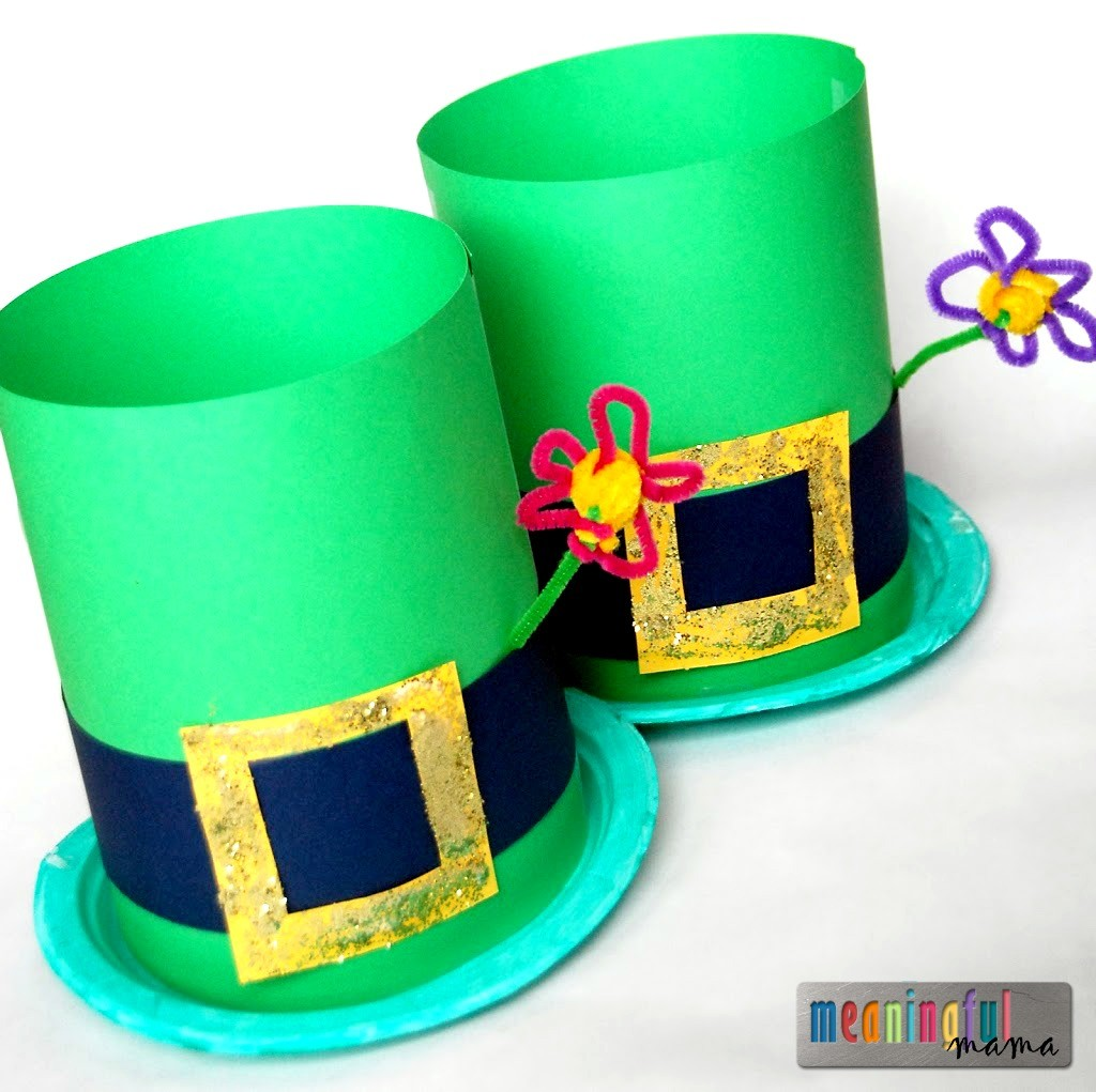 35 st patrick s day crafts to make you feel irish On craft hats for kids