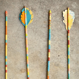 Feather Embellished DIY Arrows