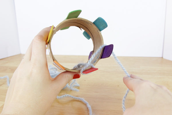 How-to: DIY a Knitting Loom & Knit With It