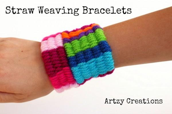Straw Weaving Bracelets via Design Dazzle
