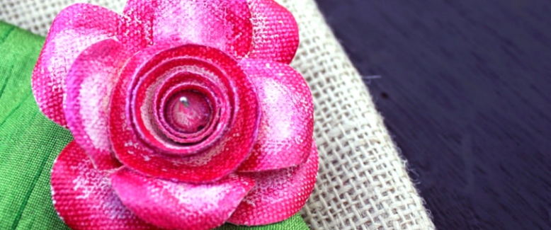 How To Make a Rose Brooch Out of Canvas