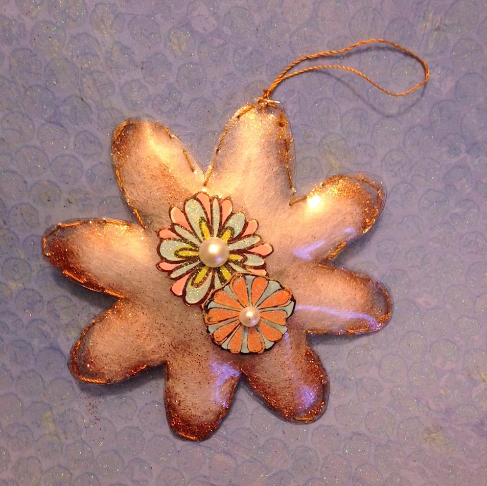 stuffed vinyl flower ornament lisa fulmer