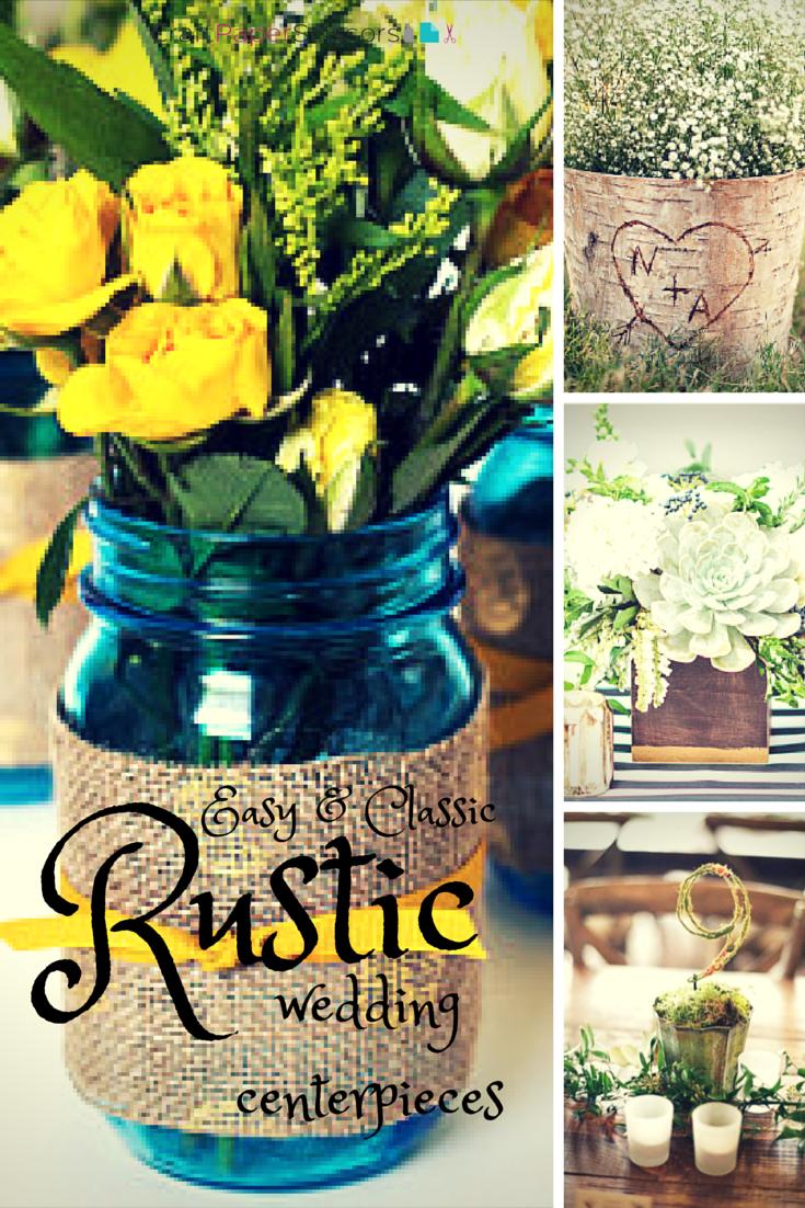 Wedding Trend: Rustic Summer Wedding Centerpieces - Craft Paper Scissors