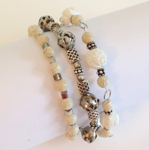 bracelet trio by lisa fulmer