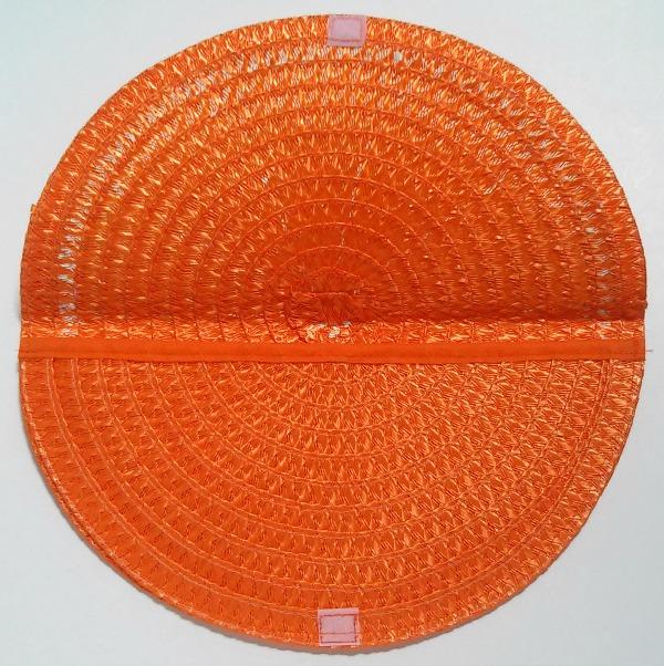 Orange Slice Straw Clutch Purse 2