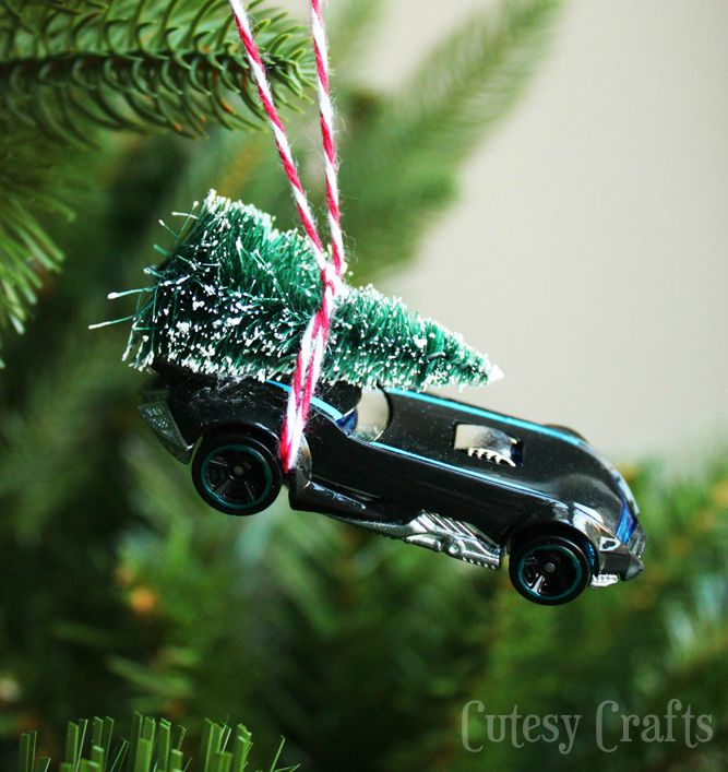 DIY Batmobile Christmas Ornament
