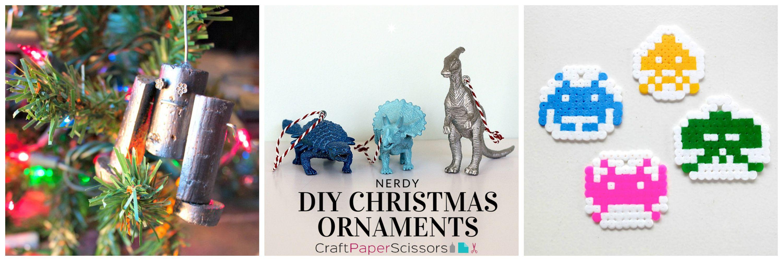 nerdy diy christmas ornaments craft paper scissors - Nerdy Christmas Ornaments