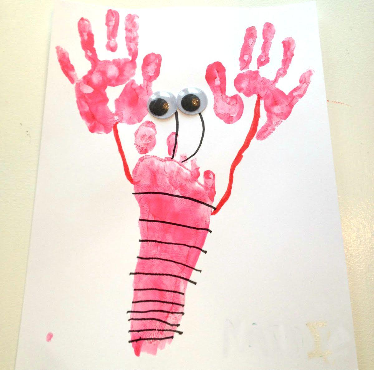 Lobster Handprint Art