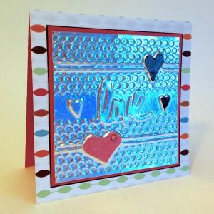 love foil embossed card lisa fulmer