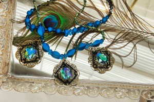 Venetian Nights wrapped filigree necklace diy