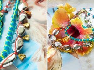 tropical necklace diy