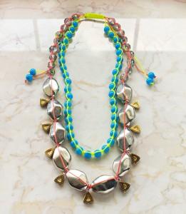 tropical necklace diy