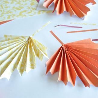 Autumn Leaf Paper Crafts Craft Paper Scissors