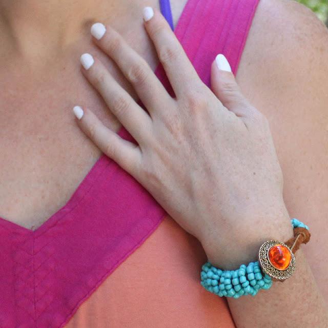 Turquoise Wrapped DIY Bracelet