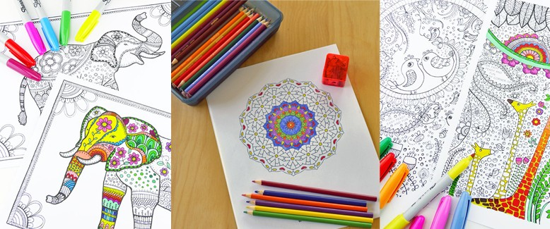 Trendy Paper Crafts: Adult Coloring Books