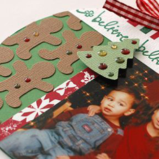 Recycled CD Holiday Card