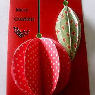 Easiest 3D Ornament Christmas Card
