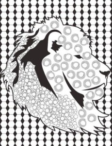 Leo the Lion Adult Coloring Page