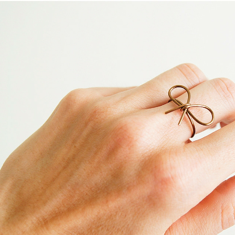 Wire Wrapped Bow Ring