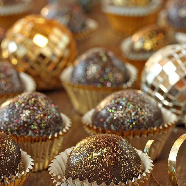Disco Ball Chocolate Truffles