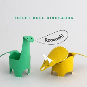 Toilet Paper Roll Dinosaurs
