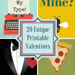 20 Unique Printable Valentines