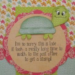 Slowpoke Belated Birthday Card
