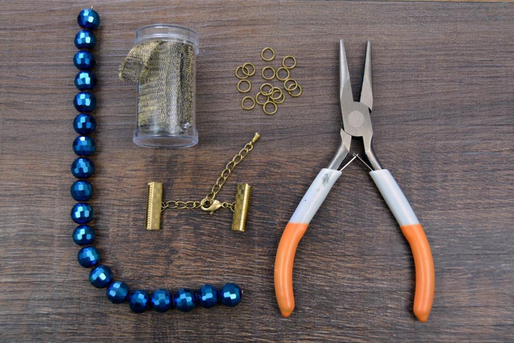 Peacock Blue Mesh Bracelet 4