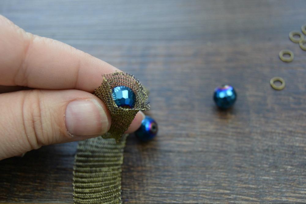 Peacock Blue Mesh Bracelet 6