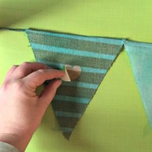 Tinted Burlap Banner
