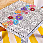 Adult Coloring Book Table