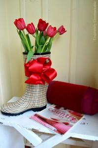 Rubber Rain Boot Decor