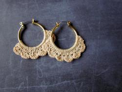 Lacy Crochet Hoops